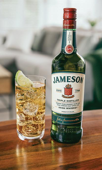 4 x Jameson-Irish-Whiskey-Ginger-Lime-Glass-Jars