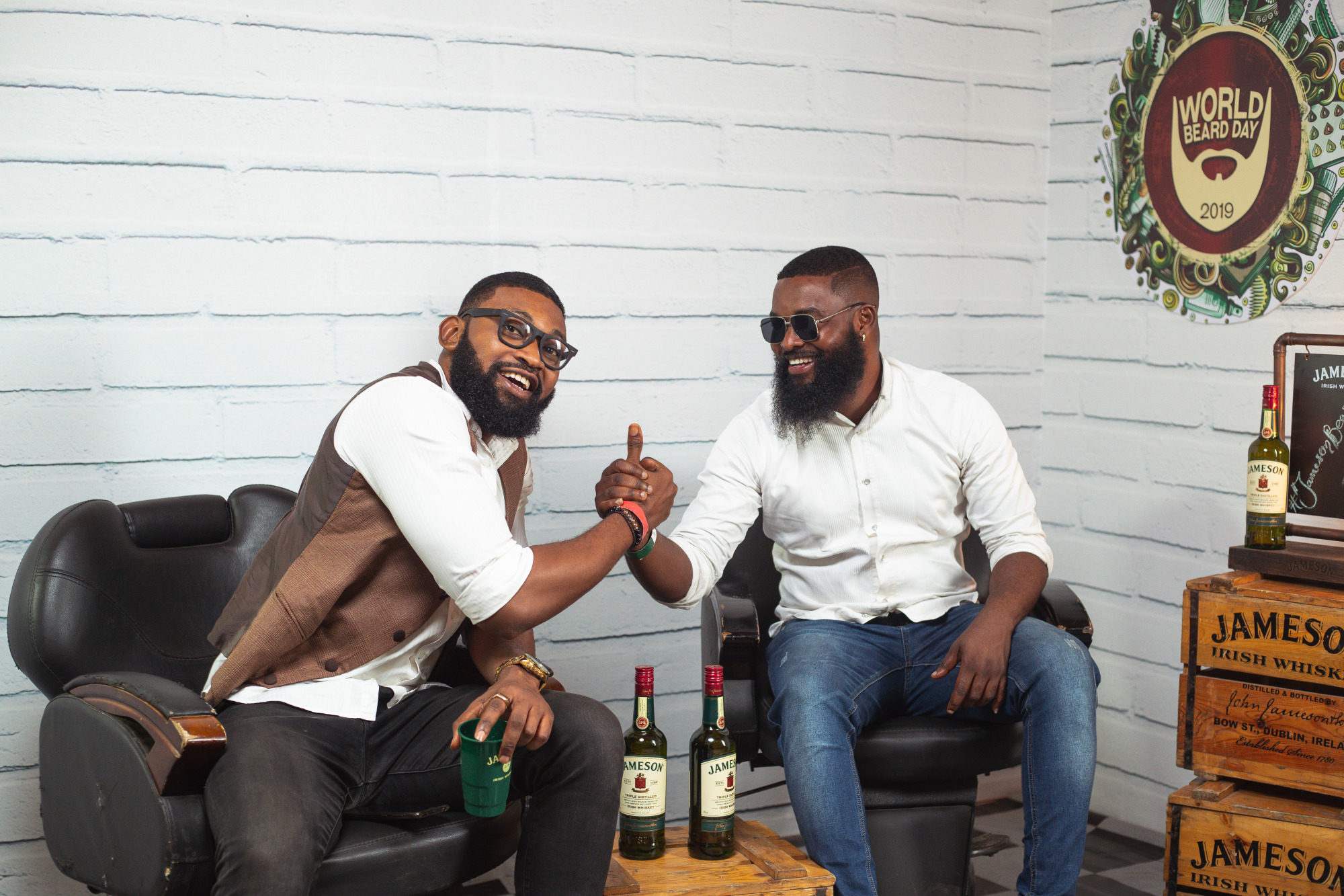 Bearded Brothers boding over Jameson cocktails