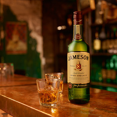 Serving our Irish Whiskey Neat - Tullamore DEW